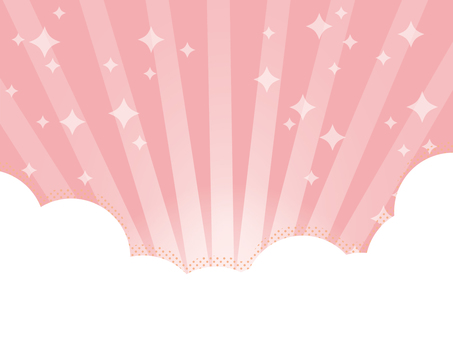 Sparkly background pink with clouds and radial lines