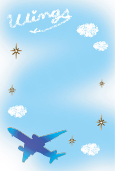 비행기와 하늘과 구름