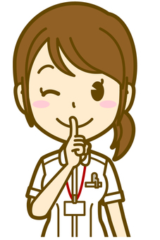 Female (nurse): quietly 02BS