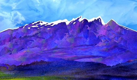 初冬の青い山脈