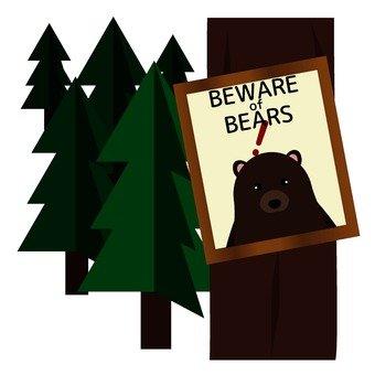 Bear appearing