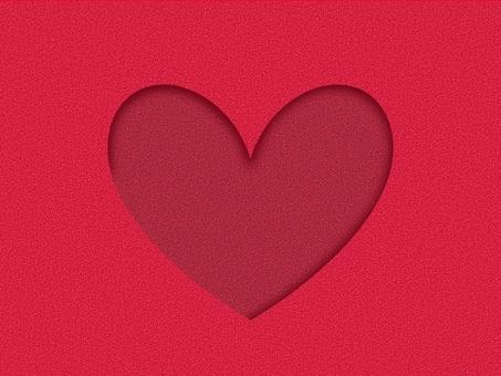 Background material * Die cut heart
