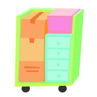 Moving - Box with loaded items