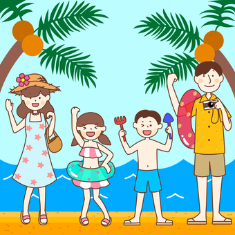 Family holiday summer vacation beach resort travel