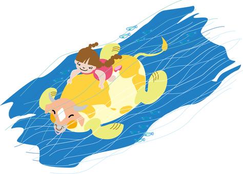 水下游泳和牛儒功