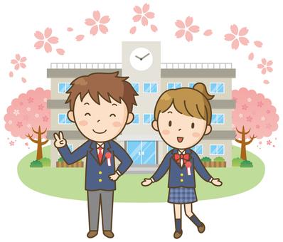 High school entrance ceremony ceremony