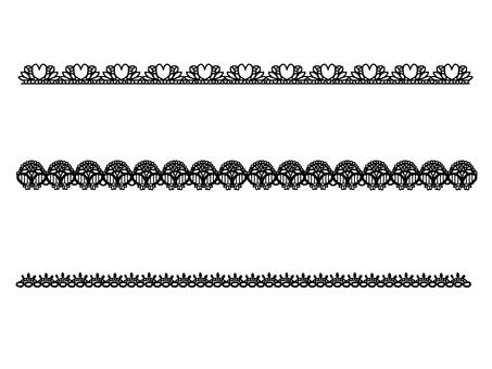 Lace line black