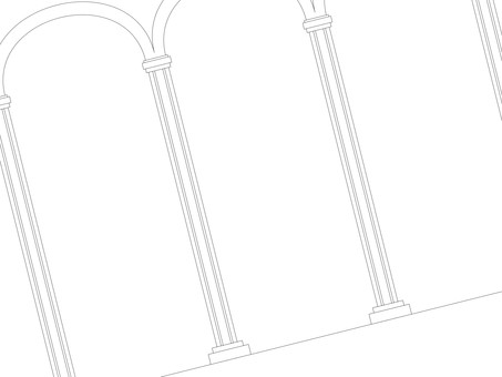 Palace somewhere (line drawing)