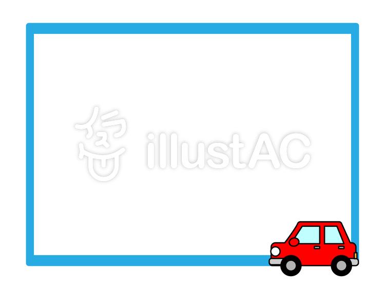 車 フレームのイラスト