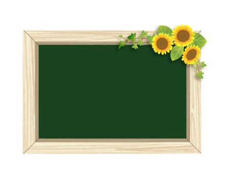 Sunflower and Blackboard 01