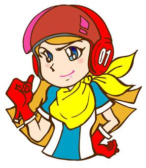 Retro Hero Lady 01