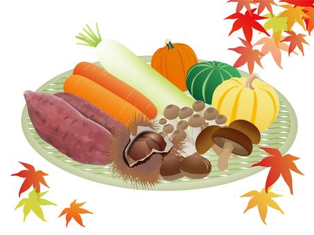 Heavy vegetables in autumn