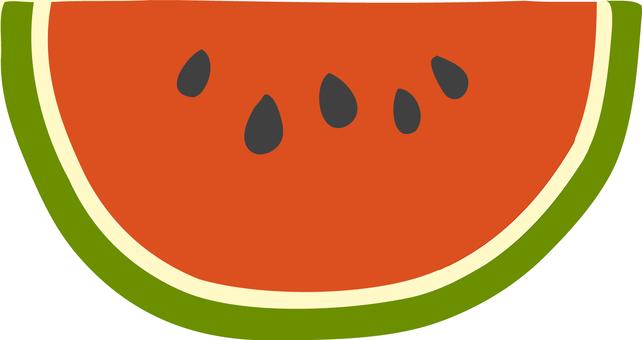 Cute hand-painted cut watermelon