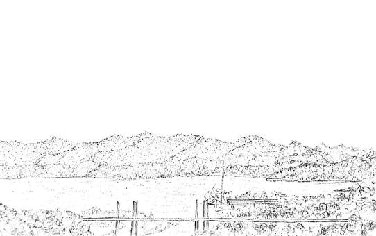 Onomichi Port (monochrome)