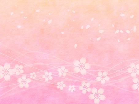 벚꽃 배경 수채화