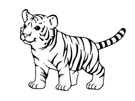 Tiger's Children B & W