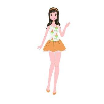 Mini skirt girls