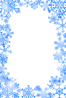 Snow crystal frame · blue · surface