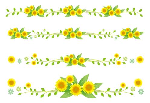Sunflower ornament line