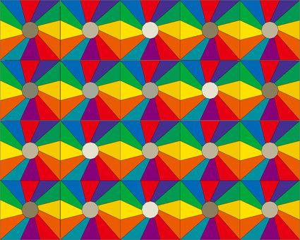 Rainbow color pattern wallpaper 01