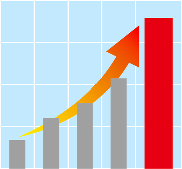Graph _ rapid growth _ 02 _ red
