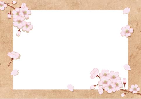 春天櫻花框架6