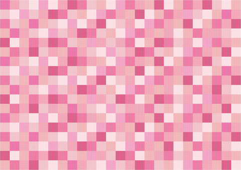 Wallpaper - Patchwork - Pink