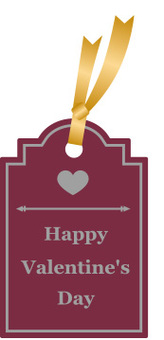 Valentine Ribbon Tag