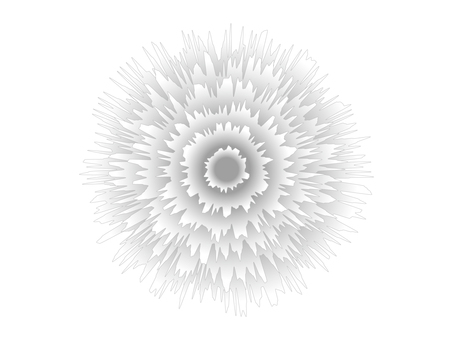 White gerbera icon material
