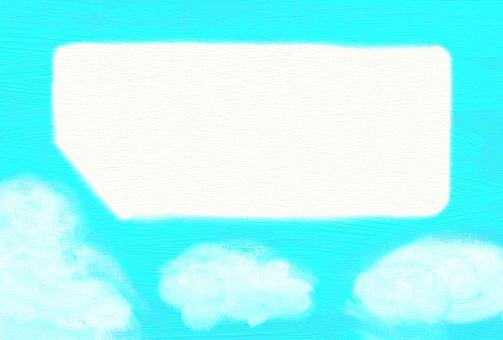 A blue sky frame