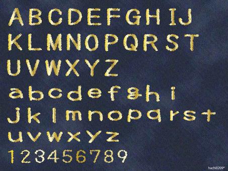 Embroidery letters (Fri) Alphabet