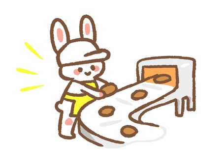 兔子在工廠工作