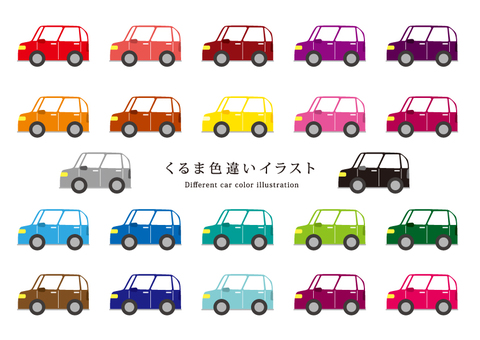 Various car illustrations