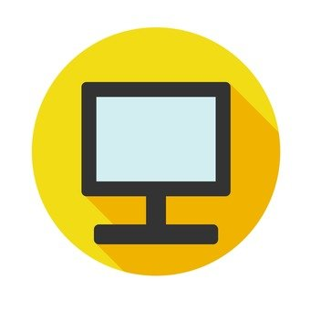 Flat icon - Desktop PC