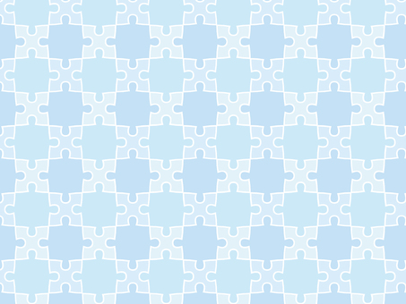 ai with light blue puzzle background with swatch pattern