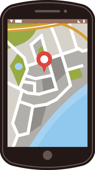 Smartphone map to show map