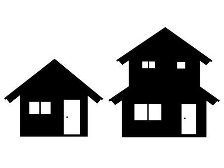 房子剪影材料