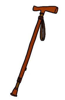 [Rehabilitation] wand / stick / T-shaped cane