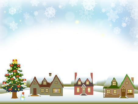 Christmas tree and house frame (snow) 3