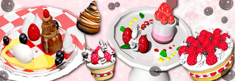 3DCG dessert wallpaper