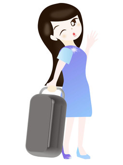 Woman going to travel