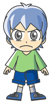 Boy illustration - Anger 1