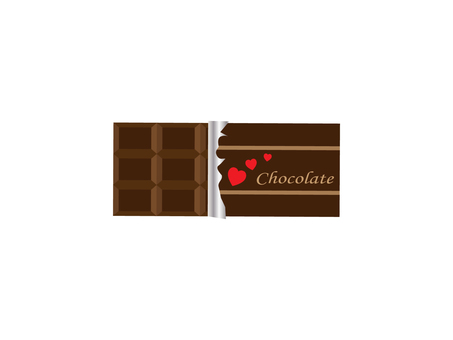 Illustration material of plate chocolate