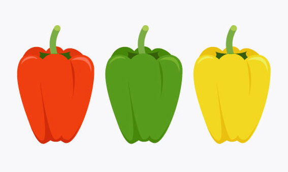 Green peppers, paprika