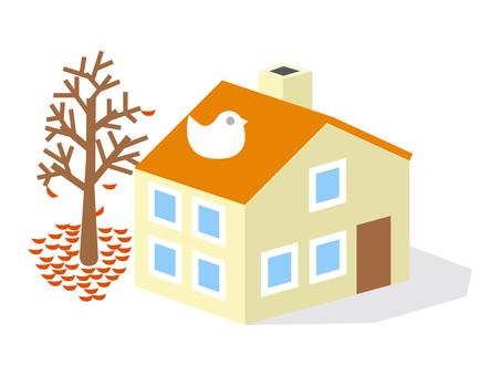 Late autumn house 2