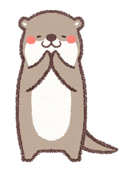 Otters hands together