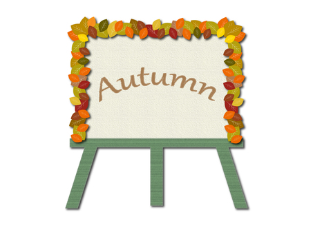 Autumn canvas illustration material