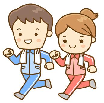 Running men and women