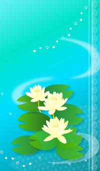 Illustration of water lily
