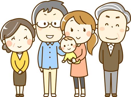 Tres generaciones de cinco familias